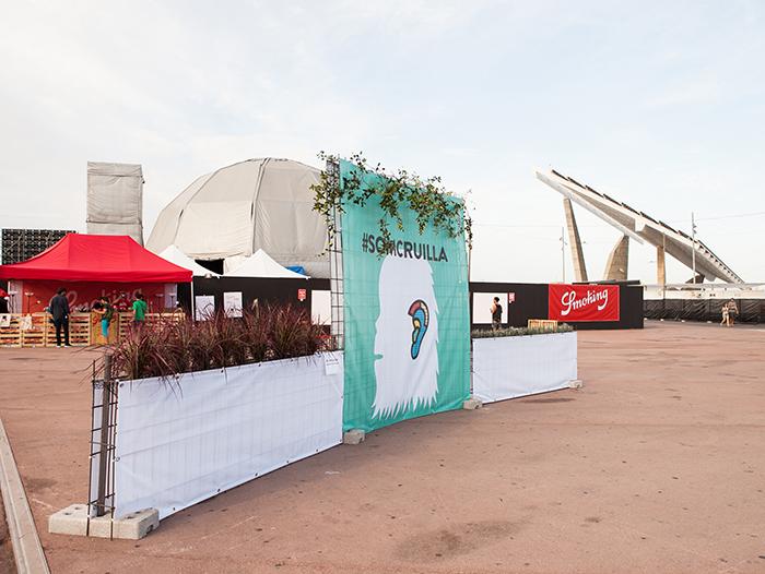 Instalación paisajística en el Festival Cruïlla