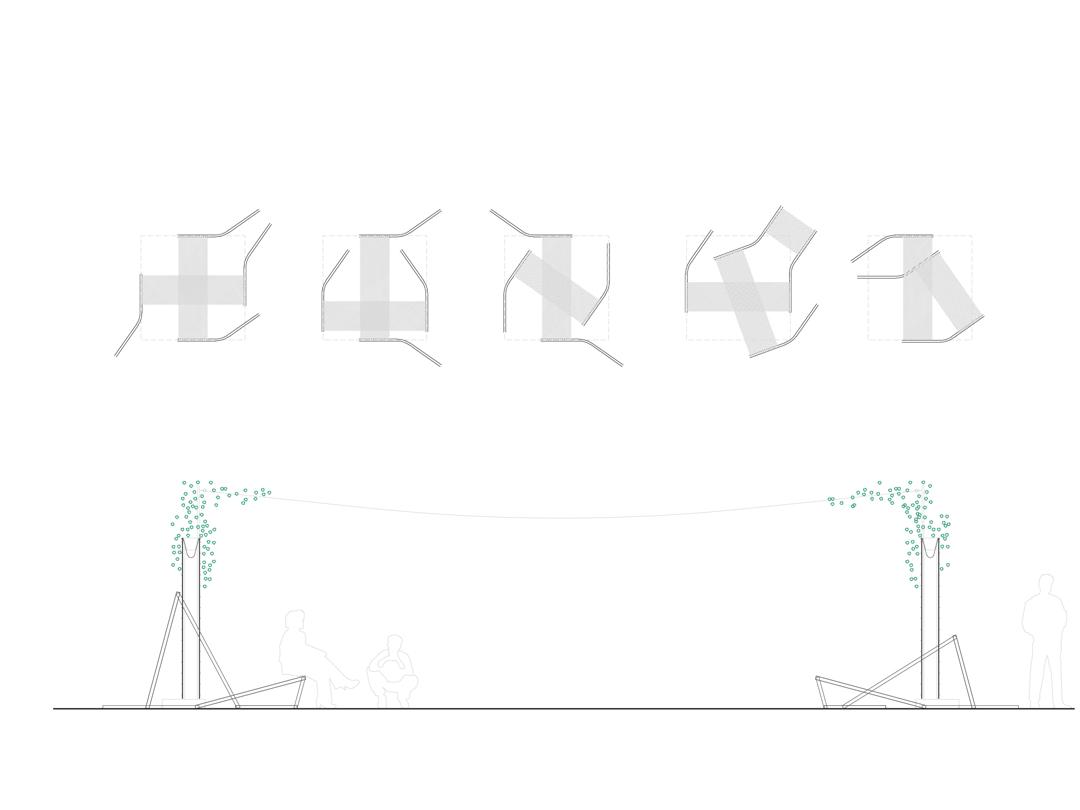 Instalación paisajística de señalización y sonora para el Festival Cruïlla 2016 de Barcelona por De Buena Planta